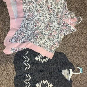 Girls cold weather ponchos